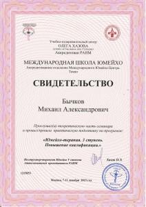 Диплом Юмейхо Россия. 3 Ступень